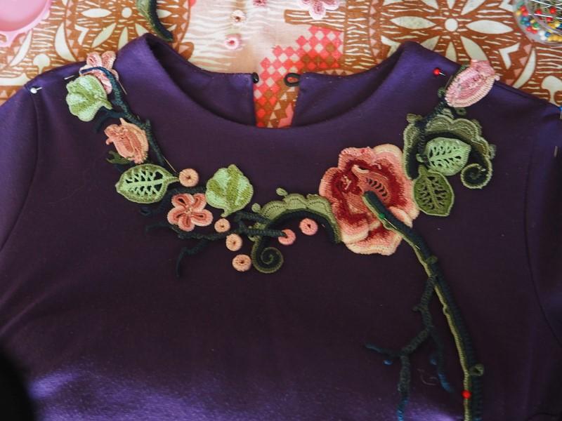 Irish Crochet Dress Design