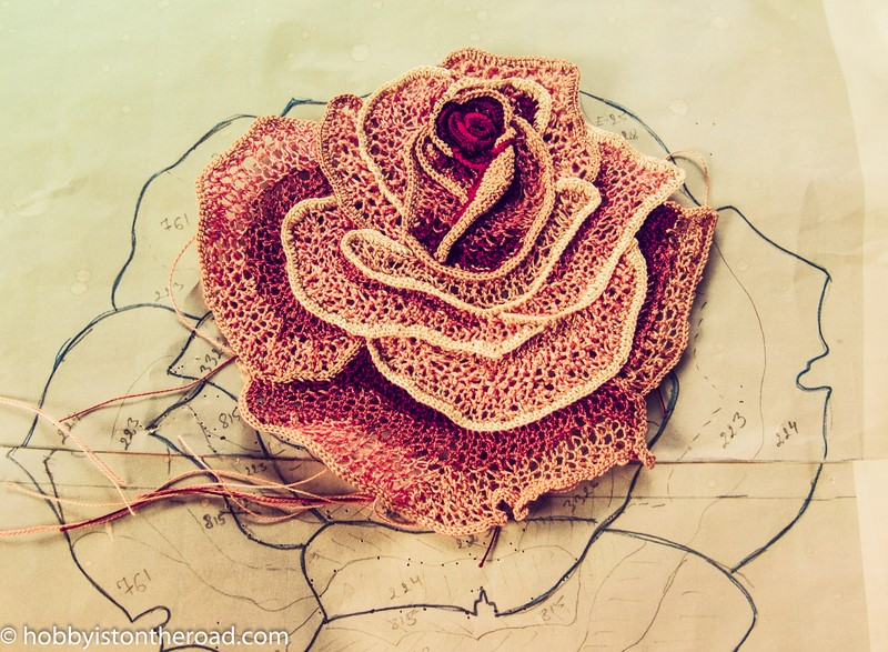 Irish Crochet Lace Project: Main Rose