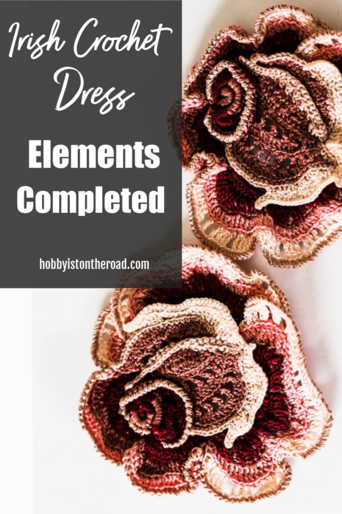 crochet elements completed Pin