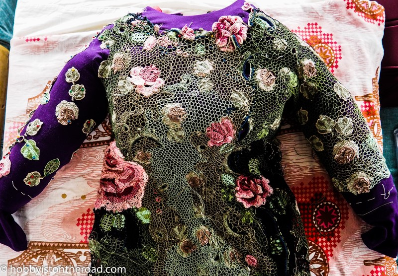 Sleeves for Irish crochet dress