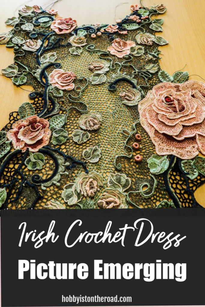 Picture Emerging Irish crochet dress