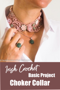 Crochet choker collar