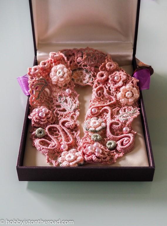 Crochet Choker collar irish lace