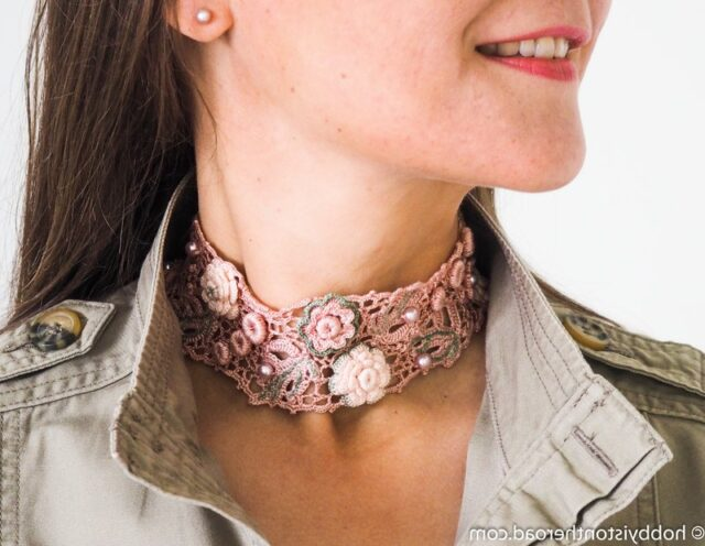 Choker Collar basic Irish crochet project