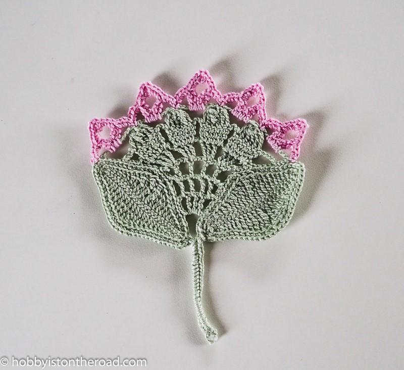 stylized crochet peonies