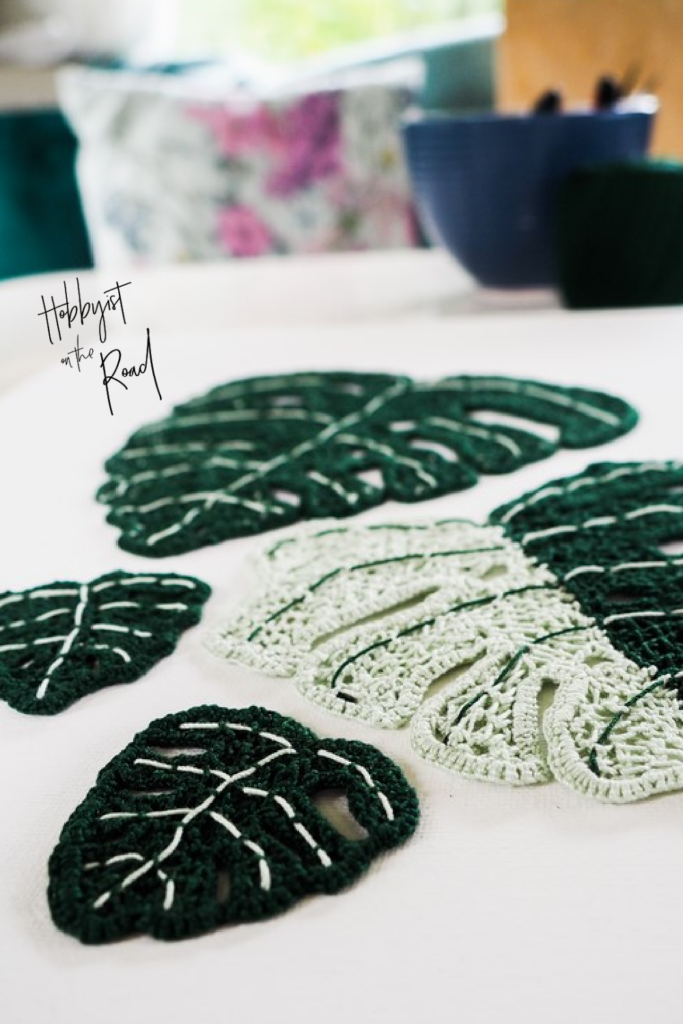 Crochet Monstera leaves pinterest