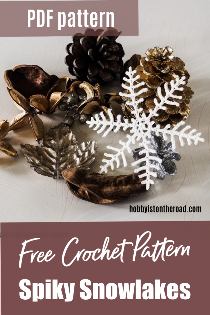 Spiky snowflakes free pattern