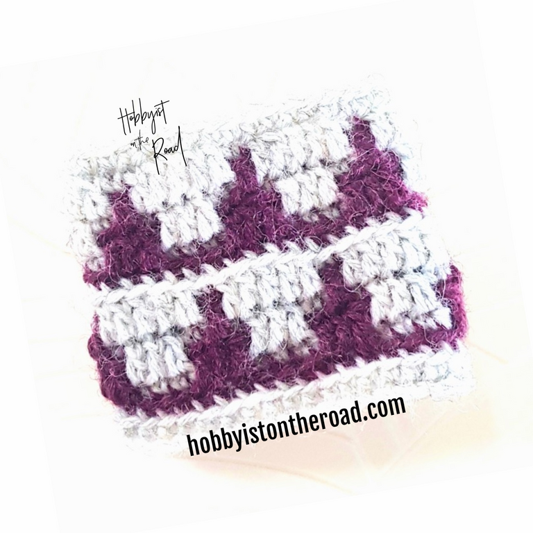 How to crochet mosaic overlay and read charts.